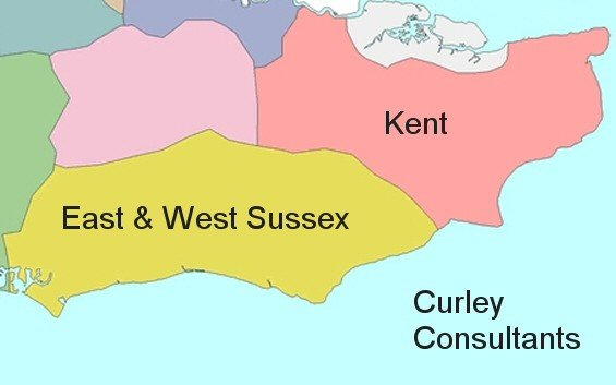 Areas covered by Curley Consultant